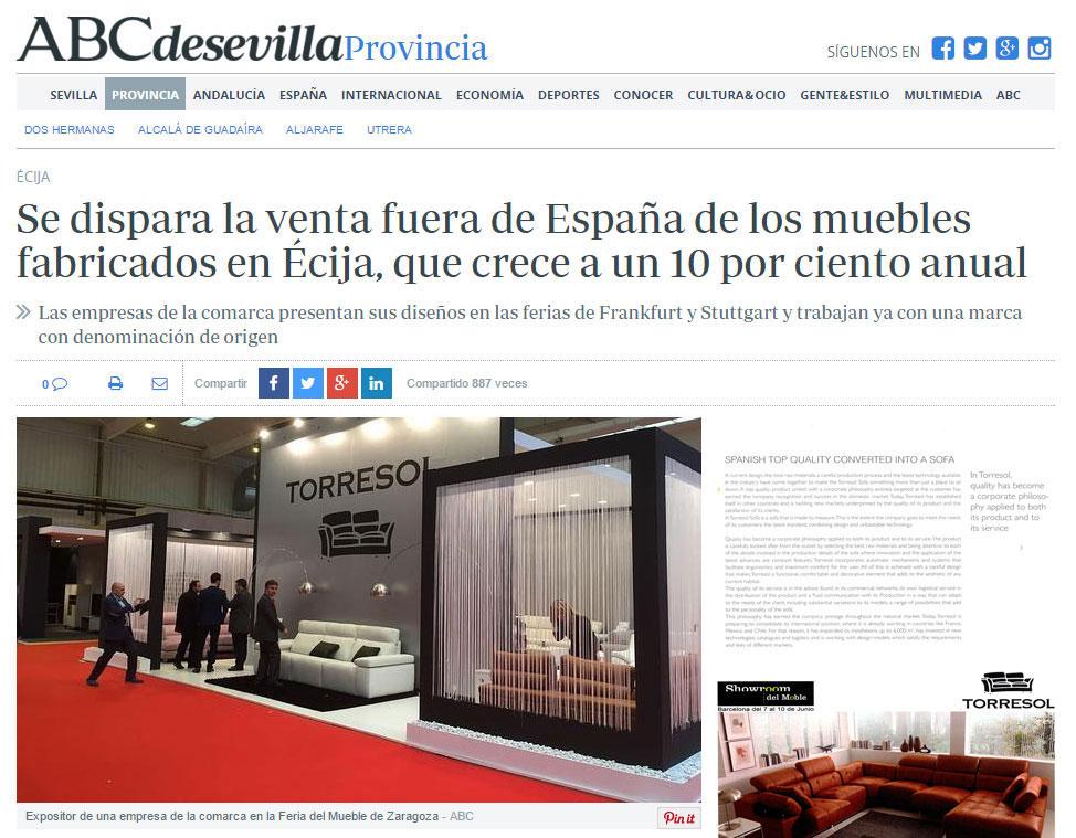 TORRESOL como imagen destacada en ABC Sevilla.